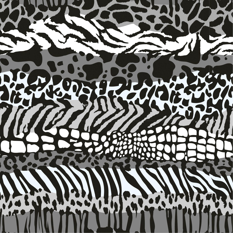 Baumwolljersey Animal Zebra Weiß Schwarz