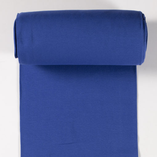 Bündchen glatt Azurblau