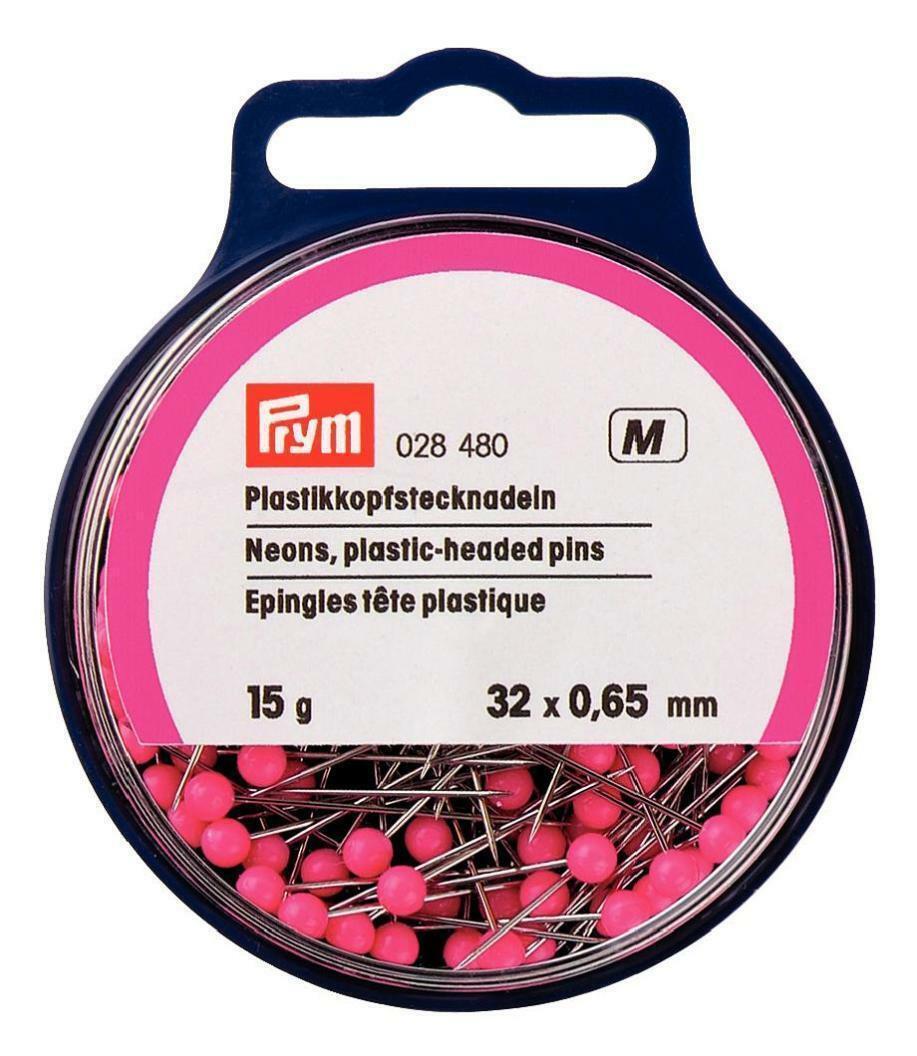 Neon Plastickkopfstecknadeln Prym Pink