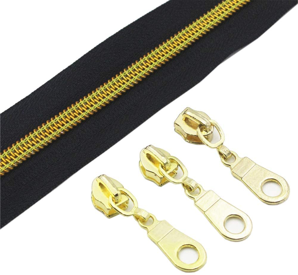Zipper 5 mm  Gold