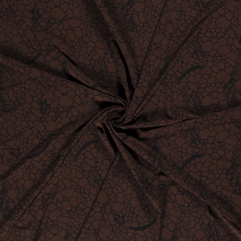 Quatro Stretch Muster Schokobraun