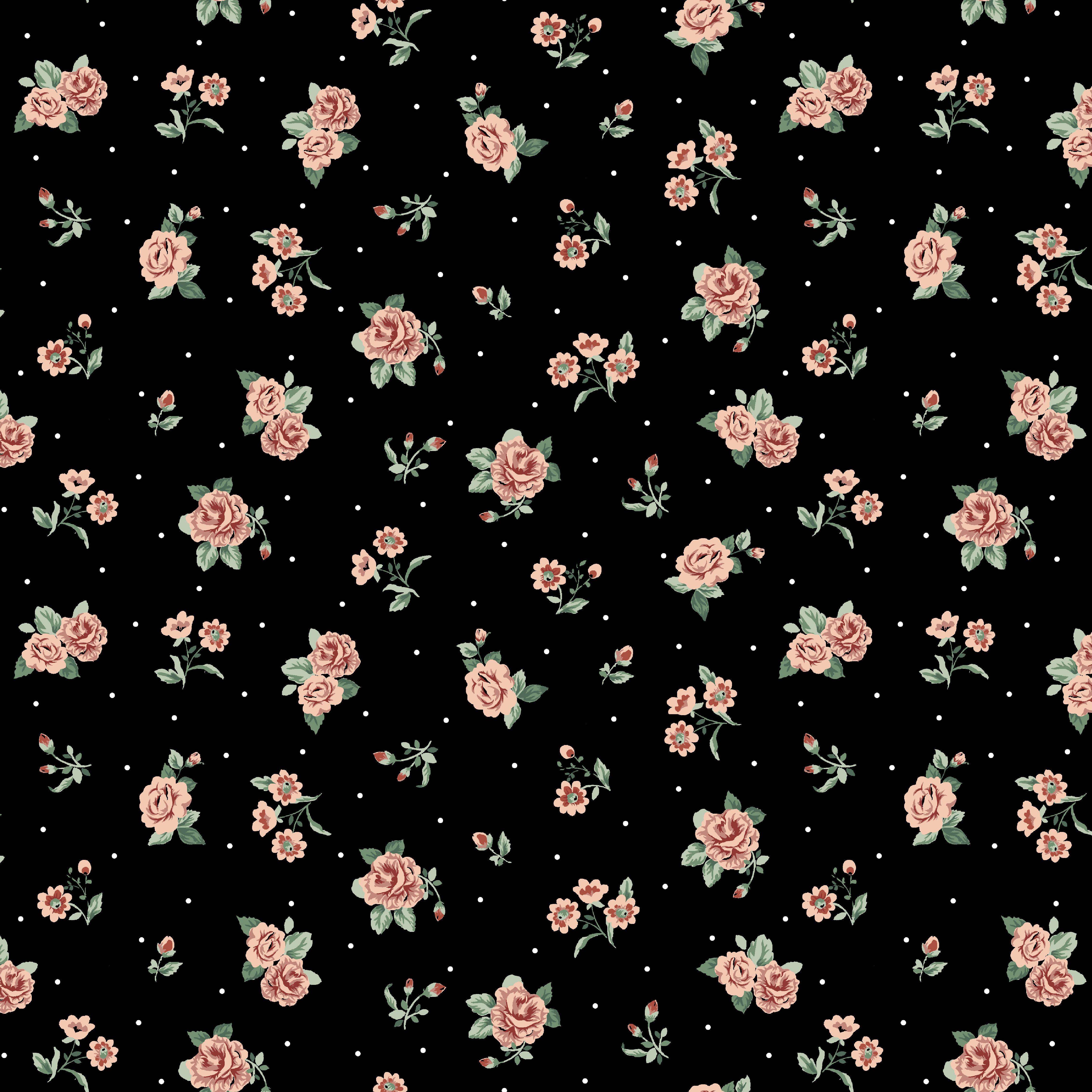 Soft Sweat Streublumen auf Black