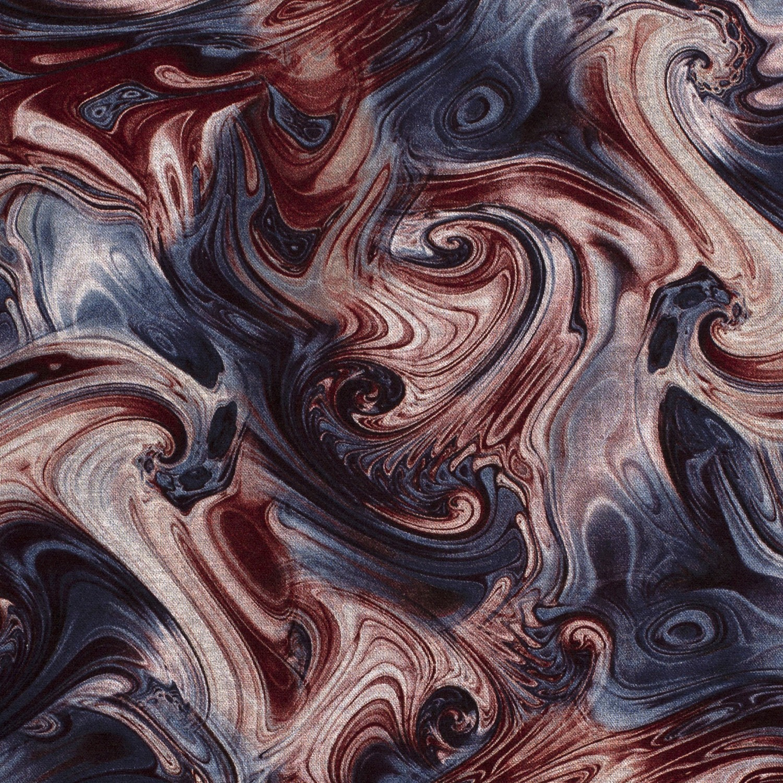 Viskose Feinstrick Muster Bordeaux