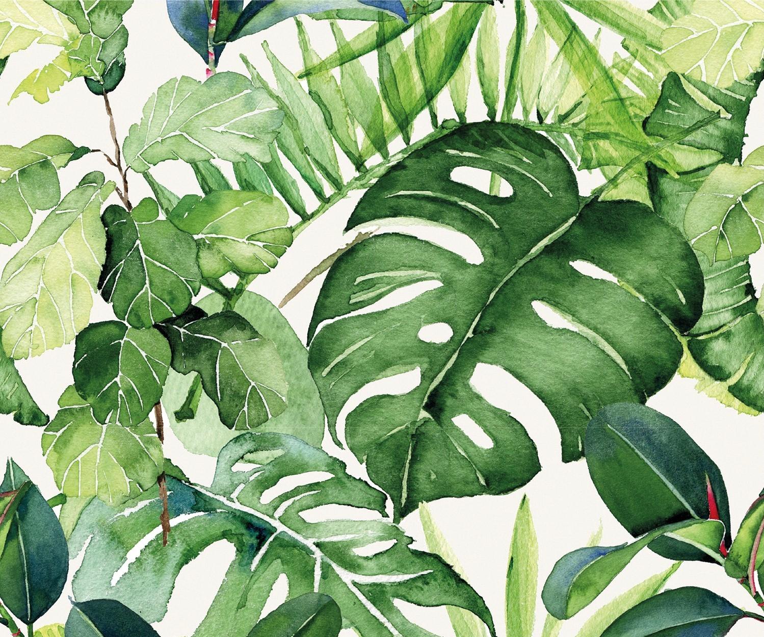 Baumwolljersey Dschungel Blätter