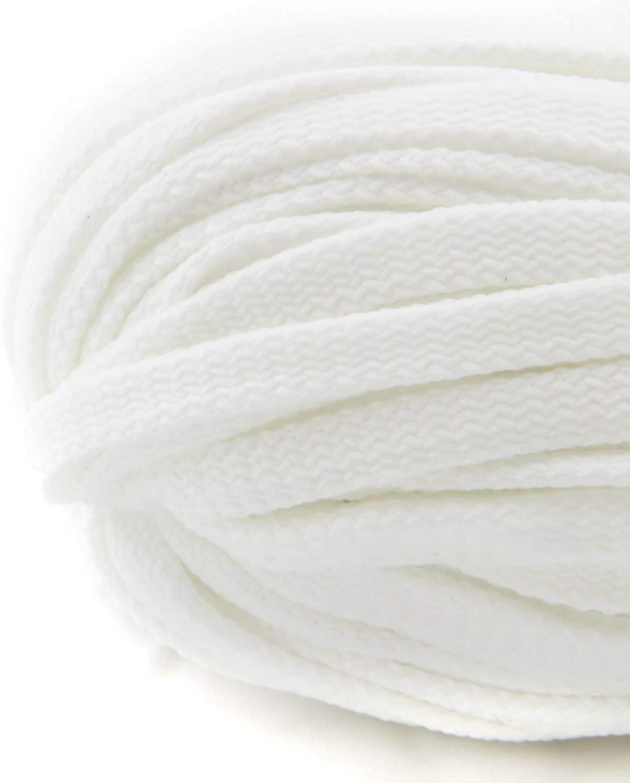 Flachkordel Weiß 10 mm