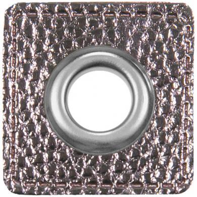 Ösen Patches Silber Metallic