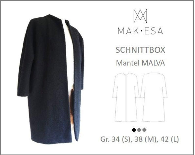Schnittmuster Box Sommermantel Malva Makesa