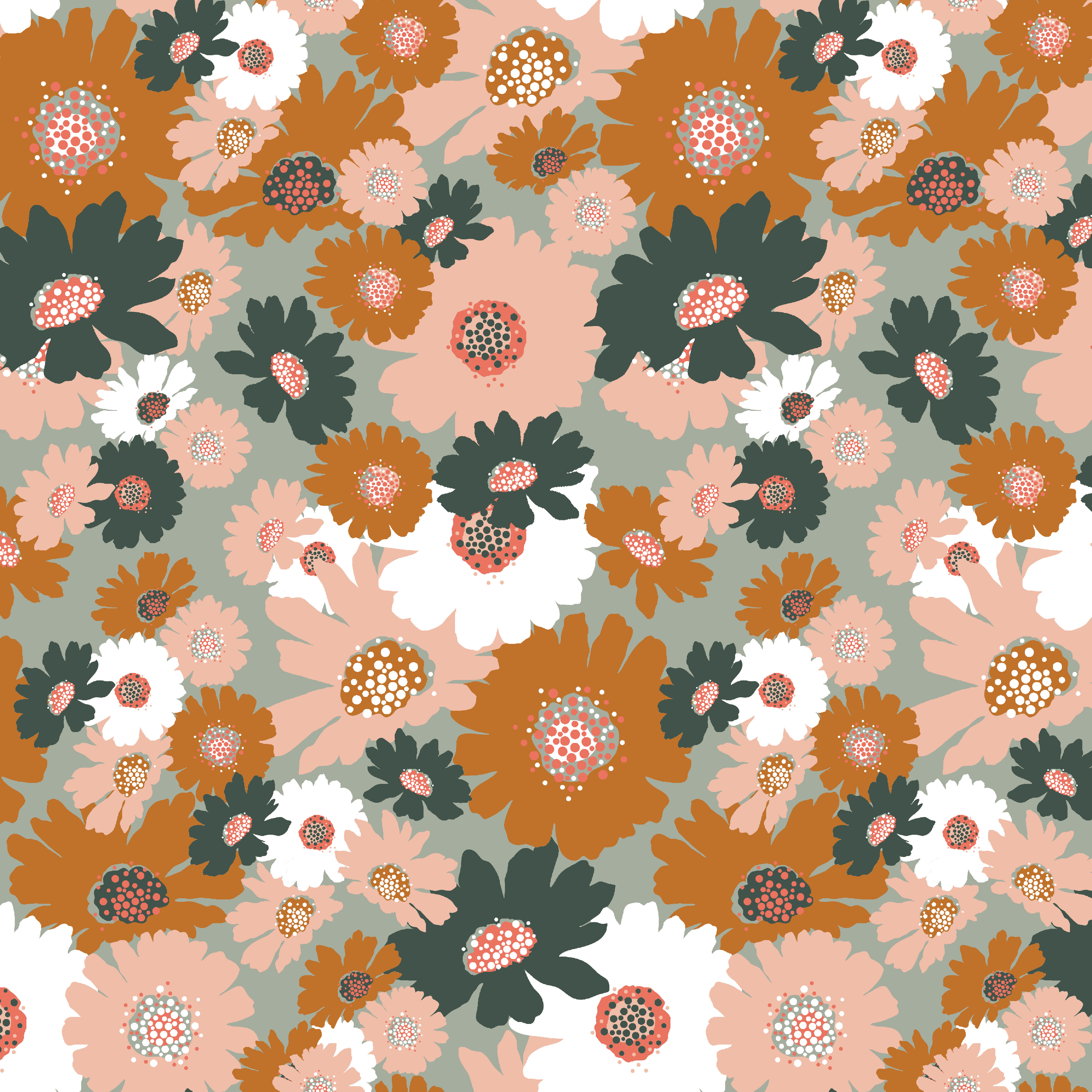 Soft Sweat Blumen auf Mint