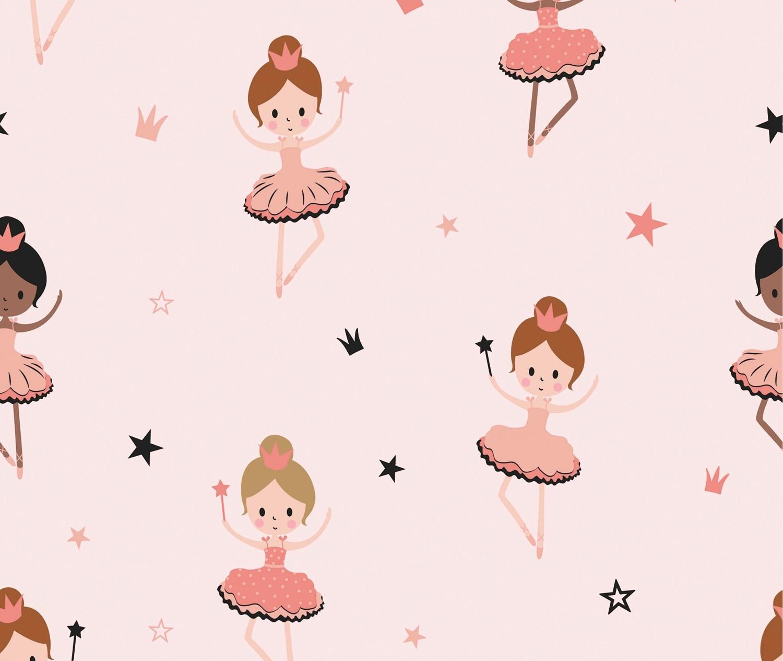 Baumwolljersey Ballerina auf Rosa