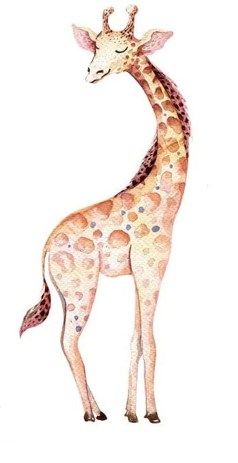 Bügelbild Giraffe