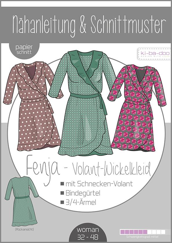 Schnittmuster Wickelkleid mit Volant Fenja Kibadoo