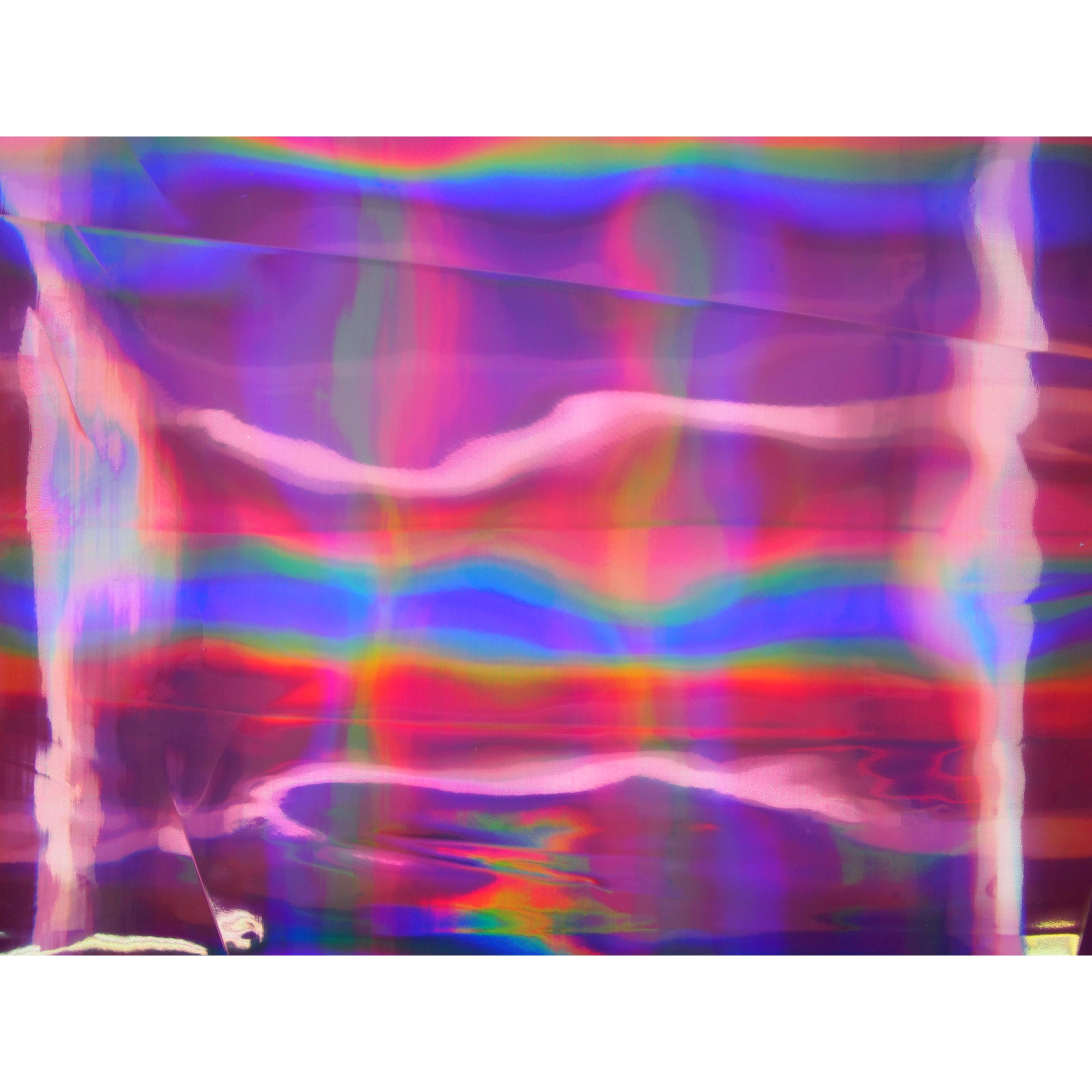 Jackenstoff Rain Mermaid Hologramm Pink