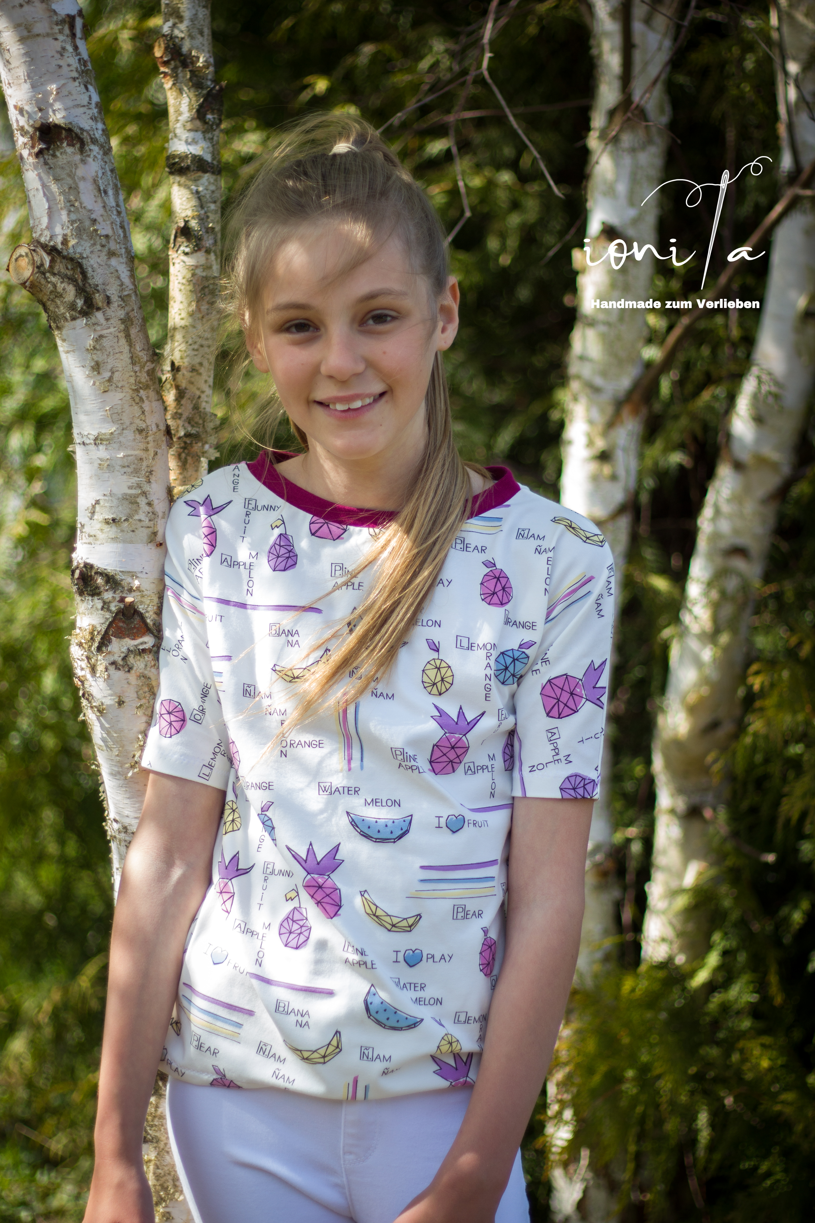 Crew Box Kids Summer Shirt UV Fruit Gr. 104-152