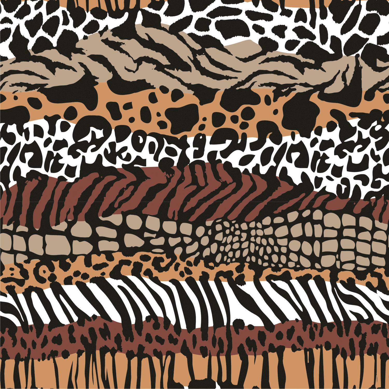Baumwolljersey Animal Zebra Braun